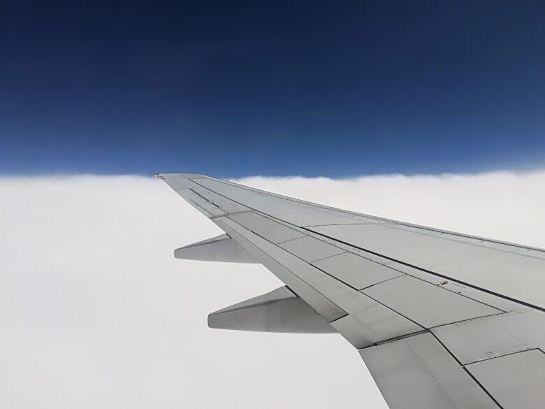 飛行機の羽